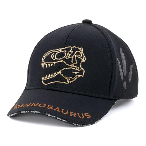 子供サイズ スポーツキャップ ティラノサウルス スカル ブラック