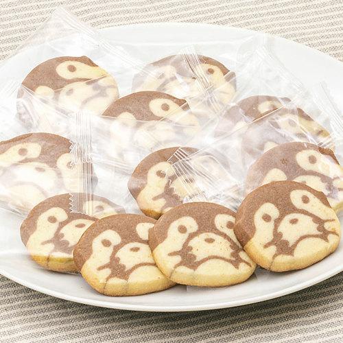コツメカワウソの顔をプレーンとココア生地でかわいらしいクッキーにしました