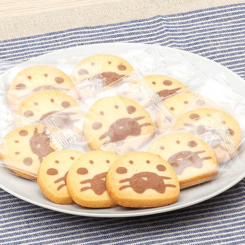 ゴマフアザラシの子どもの顔をプレーンとココア生地でかわいらしいクッキーにしました