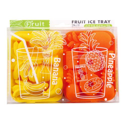 熱帯地域に生息する、身近で良く食べられている果物の形の氷が作れるアイストレー(シリコーン製)