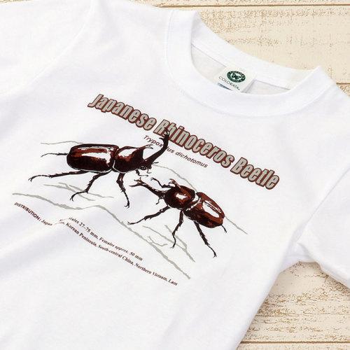 Tシャツ カブトムシ(日本) ホワイト 子供サイズ