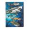 サメとエイ9種のイラスト