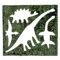 恐竜の形、切り抜き50枚(板のり 2.5枚分)