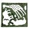 動物の形、切り抜き30枚+大小の草の形(板のり 2.5枚分)