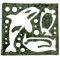 型を抜いた海苔もおむすびやお弁当に使えます