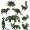 レッサーパンダ、ワオキツネザル、アフリカタテガミヤマアラシ、ニホンリス、ワラビー、カピバラ、フェネック、ミーアキャット、ニホンノウサギ、葉っぱの形