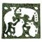 動物園の哺乳動物の形、切り抜き45枚(板のり 2.5枚分)