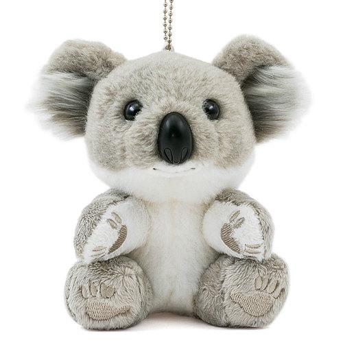 「ありがとう!」の言葉をテーマに、姿勢を正してお礼をする姿のコアラの赤ちゃんのマスコット